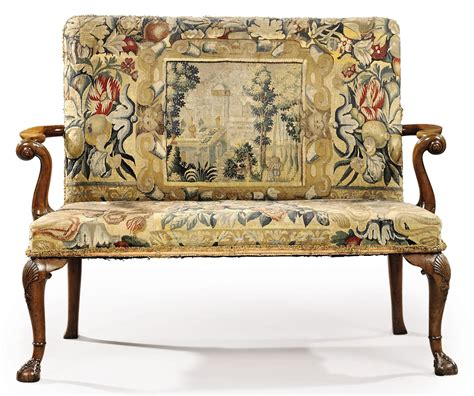 tapestry sofa a george ii walnut and tapestry sofa circa 1730 sofa