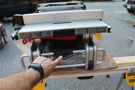 compact portable table saw dewalt vs bosch compact table saw comparison