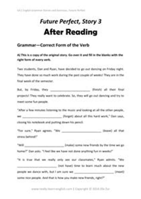 by the time future perfect english exercises practice stories and exercises to practice the perfect tenses