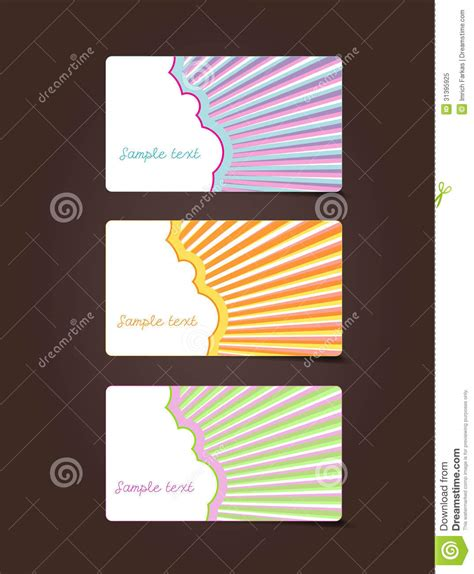 Text Gift Cards - 3 gift cards with place for your own text royalty free stock photo image 31395925