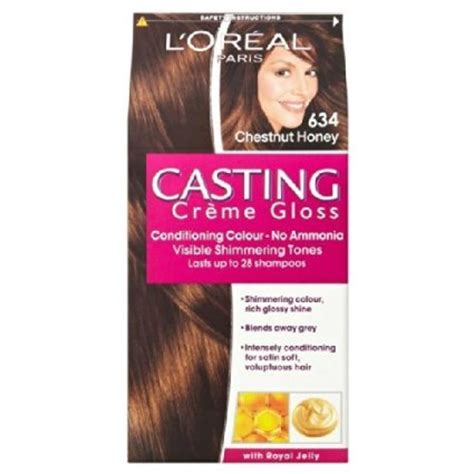 634 chestnut honey casting creme gloss ammonia free hair colour buy l oreal casting creme gloss new shade honey chocolate