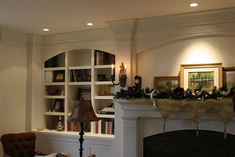 made fireplace mantle surround and bookcase by