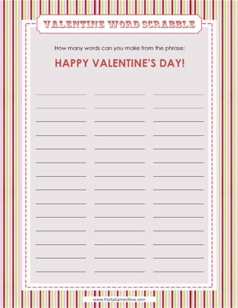 free printable valentine word games printable valentine word search puzzles for kids 5
