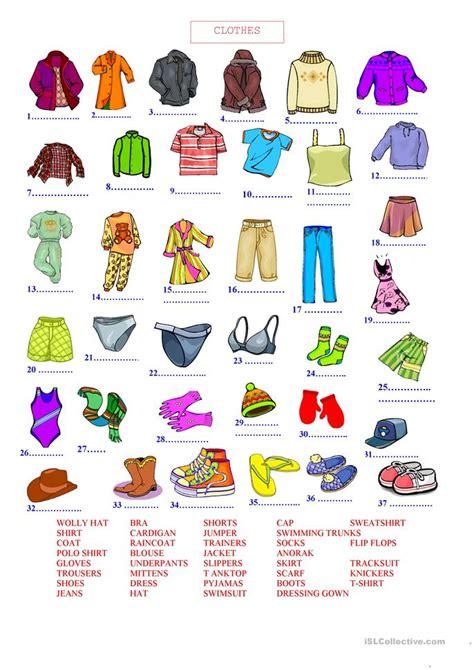 guess my word 35 food items worksheet free esl clothes worksheet free esl printable worksheets made by
