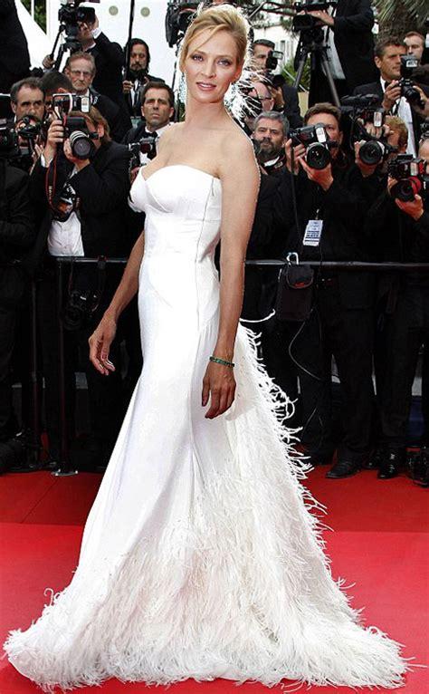 Uma Thurmans Wedding by Uma Thurman S White Dresses For Cannes 2011 Dolce