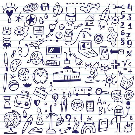 how to doodle in school school doodles set stock vector 169 topform 61423359