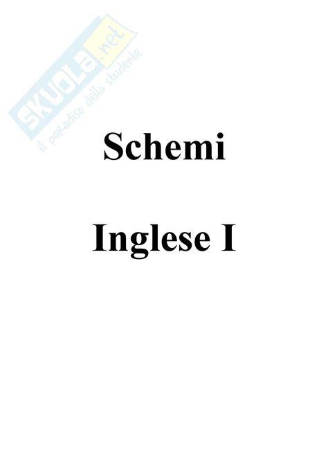dispensa inglese schemi appunti di inglese