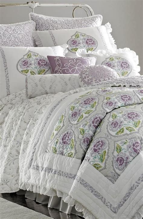 shabby chic purple bedding in with this lavender comforter sewing room