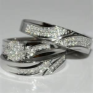 silver wedding ring sets sterling silver wedding ring sets engagement ring unique engagement ring