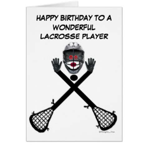 lacrosse player card template lacrosse cards zazzle