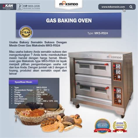 Oven Gas Roda mesin oven roti gas 4 loyang mks rs24 toko mesin