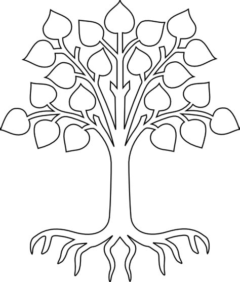 tree  roots clipart outline   cliparts