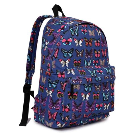 Backpack Butterfly e1401b miss lulu large backpack butterfly navy