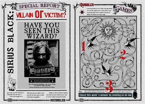 free printable quibbler quibbler page sirius black villain or victim by jhadha on