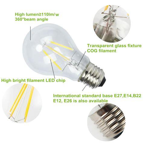 What Are Led Light Bulbs Made Of Energy Saving A60 Dimmable Led Filament L E26 E27 Led Filament Bulb Buy A60 Led Filament