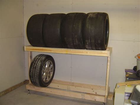 build  tire rack middle shelf