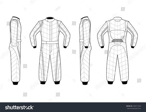 racing suit template illustrated vector race suit stock vector 445511050