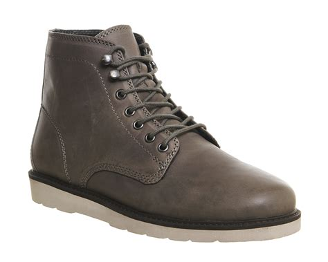 mens boots office office cedar lace boots in gray for lyst