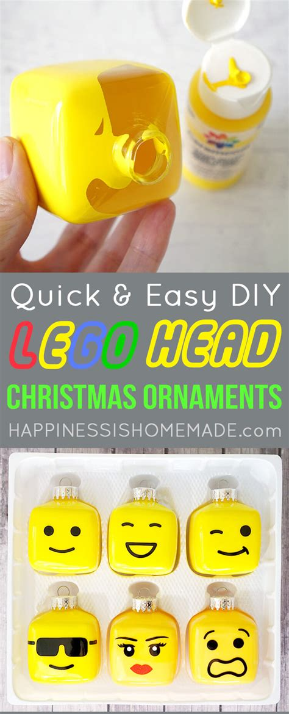 Easy Beaded Christmas Ornaments - kids lego themed christmas tree happiness is homemade