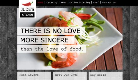 Catering Chef Website Templates Restaurants Food Wix Catering Website Templates Free