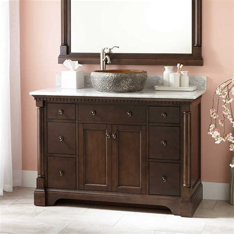 antique bathroom vanity with vessel sink 48 quot vessel sink vanity antique coffee bathroom