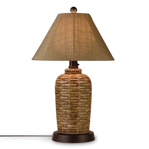 Outdoor Light Shades Shop Patio Living Concepts South Pacific 34 In Bamboo