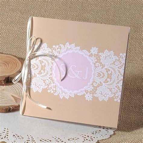 Hochzeitseinladungen Mit Band by Klassisch Spitze Und Foto Einladungskarte P Opl030 Herbst
