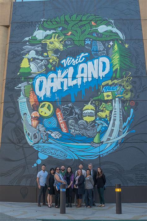 visit oakland debuts city mural  official selfie wall
