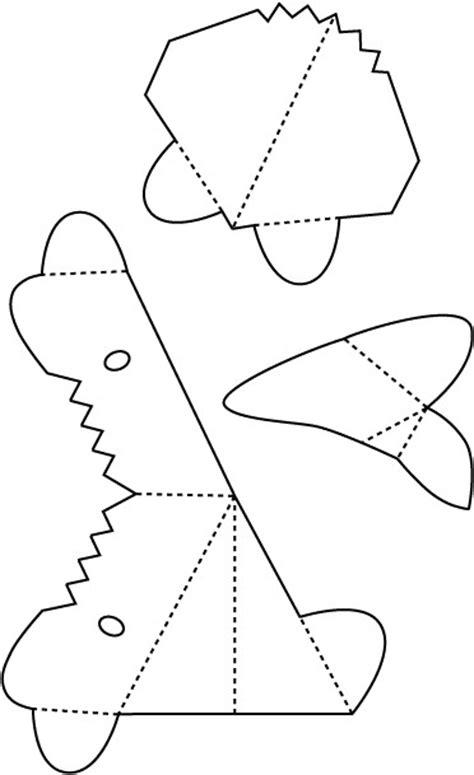 shark pop up card template pop up shark