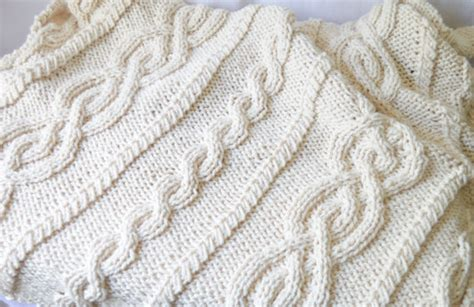 chunky cable knit blanket pattern chunky knit cable throw blanket knitting pattern pdf
