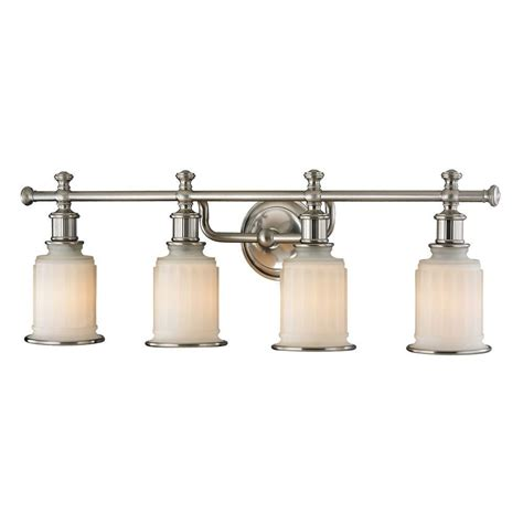 lights bath titan lighting kildare 4 light brushed nickel led bath