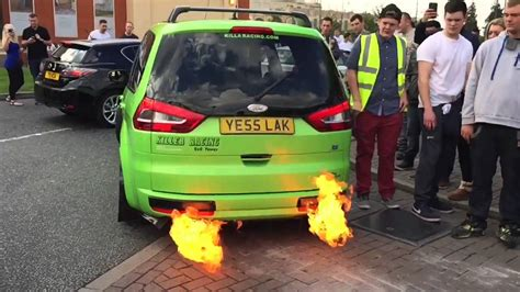ford galaxy rs ford galaxy carrier shooting flames