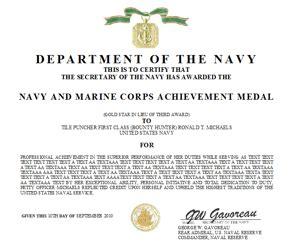 air achievement medal template navy and marine corps achievement medal citation website
