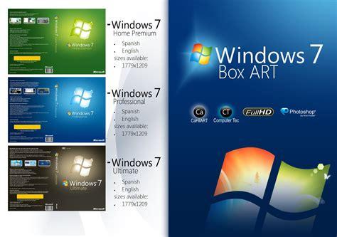 windows 7 box windows 7 box cover disc by cahilart on deviantart