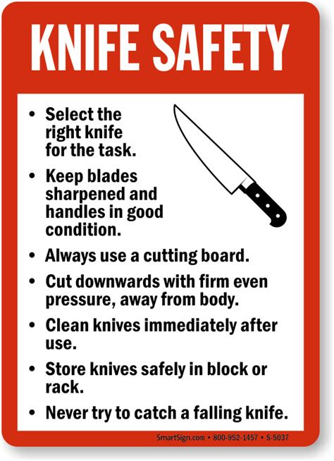 Safety Kitchen Knives with Food Safety Signs Kitchen Safety Signs
