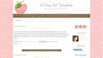 blogging template template for teachers modern pink apple class act