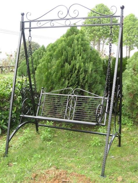 wrought iron swings garden european style furniture wrought iron swing double swing