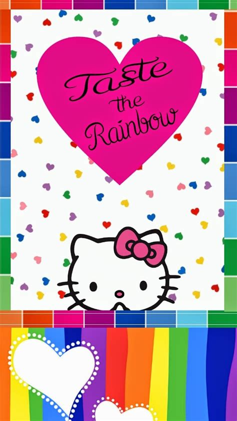 wallpaper hello kitty rainbow image gallery hello kitty rainbow wallpaper