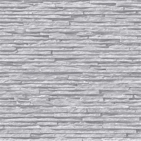 grey effect wallpaper muriva slate pattern stone brick faux effect realistic