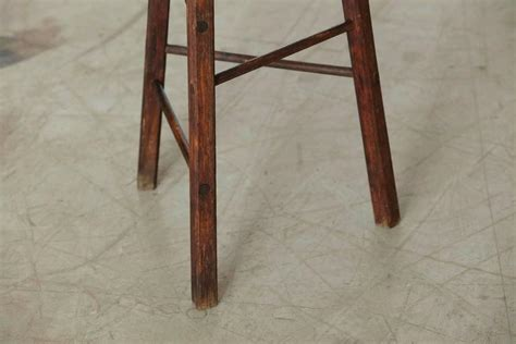 Rustic Three Legged Stool by Late 19th Century Primitive Rustic Three Legged Stool For