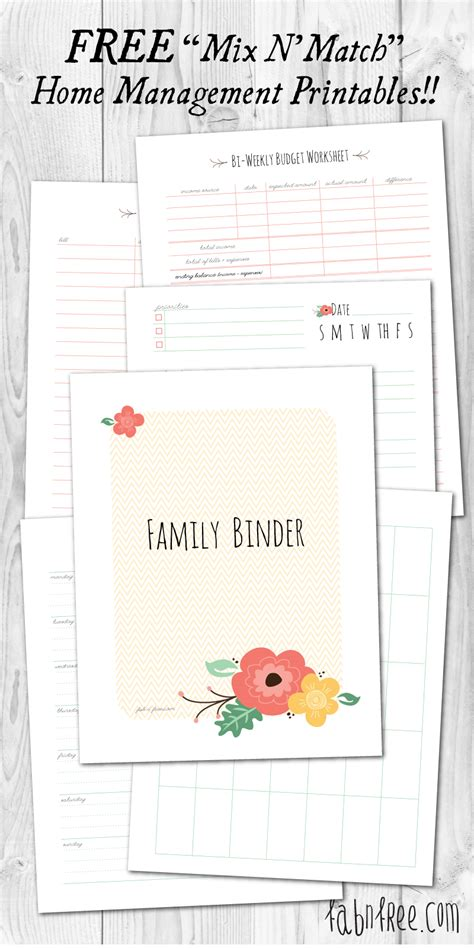 home planner free printable more than 200 free home management binder printables fab