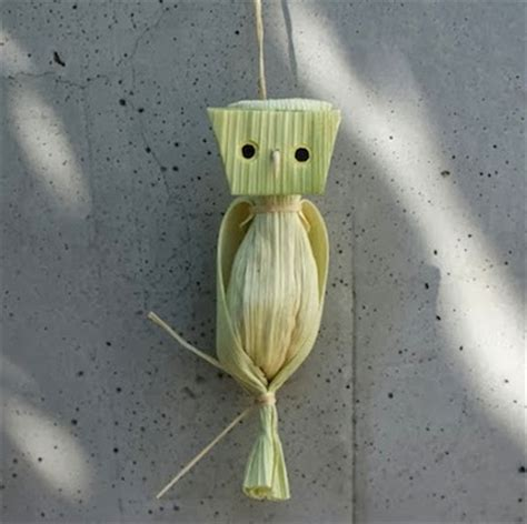 corn husk crafts for corn husk owl things to make and do crafts and