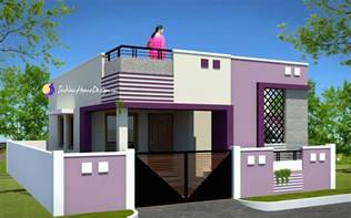 House Design Small Room Contemporary Low Cost 800 Sqft 2 Bhk Tamil Nadu Small Home