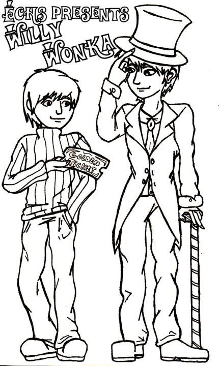 willy wonka colouring page 2 by kittykinetic on deviantart