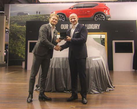 hockey phenom william nylander unveils   volvo xc  design  cias volvo cars
