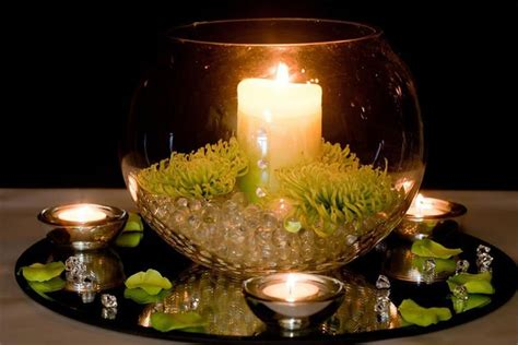 wedding centerpieces with candles and water - Wedding Centerpieces With Candles And Water