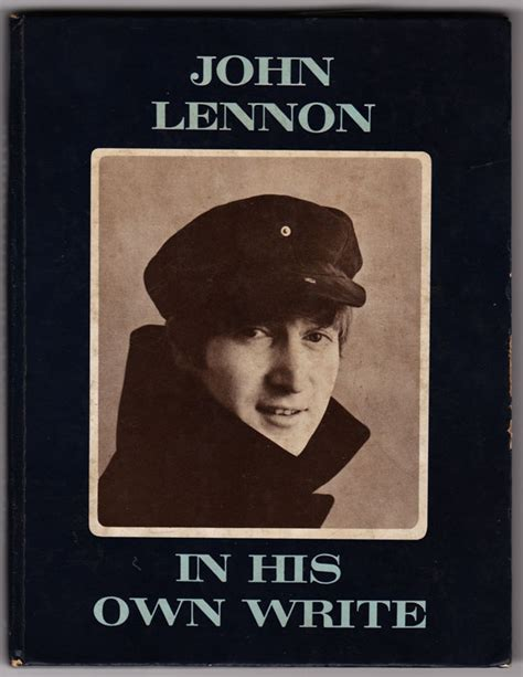 beatles lennon signed in his own write book