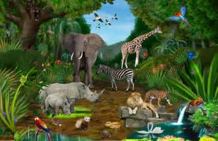 Jungle Wall Murals jungle wall murals jungle wall mural for the kids room drive thru