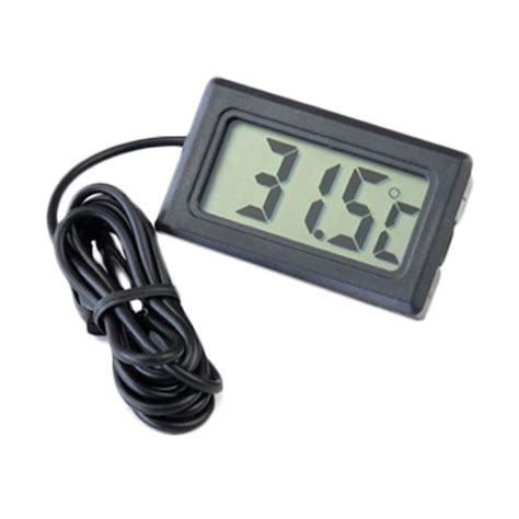 Termometer Kulkas Digital jual kis thermometer digital black harga
