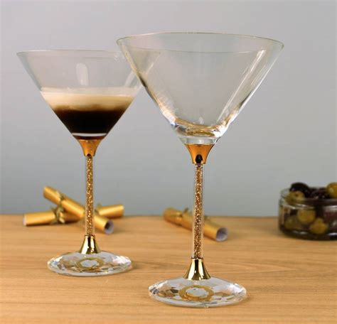 Stem Cocktail Glasses Pair Of 24ct Gold Filled Stem Cocktail Glasses By